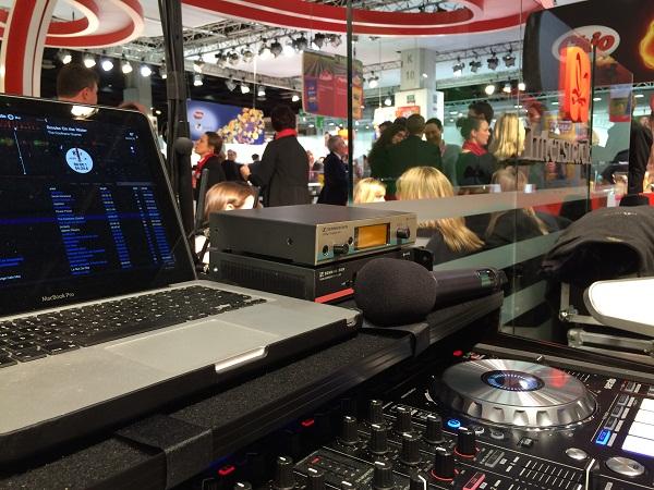 Messe-DJ auf der ISM in Köln