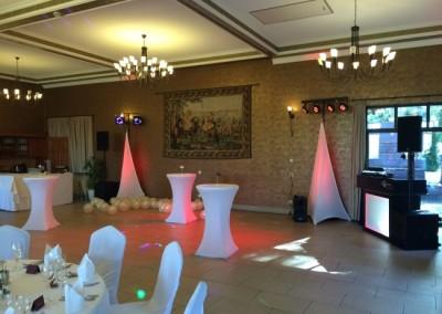 Licht und Ton Setup für Feierlichkeiten im Waldhotel Rheinbach von Chossonevent und Beats von DJnycco