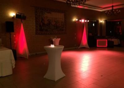 Hochzeits Ambiente im Waldhotel Rheinbach mit derhochzeitsdiscjockey DJNycco