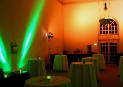 Firmen Veranstaltung - Ambient Beleuchtung Empfang im ehml. Pumpenhaus des deutschen Bundestages Bonn