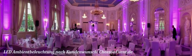 Saalbeleuchtung für ein passendes Ambiente in der Redoute in Bonn bad Godesberg mit ChossonEven